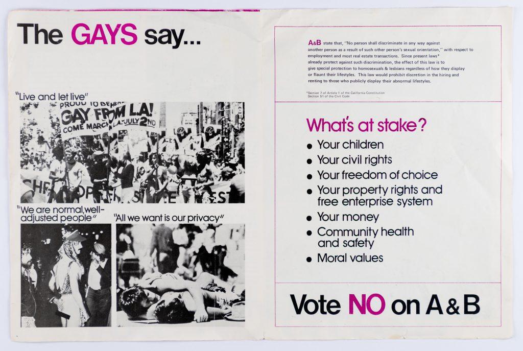 gays say no