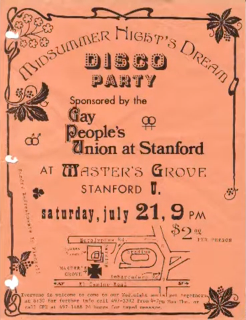 Gay Peoples Union flyer
