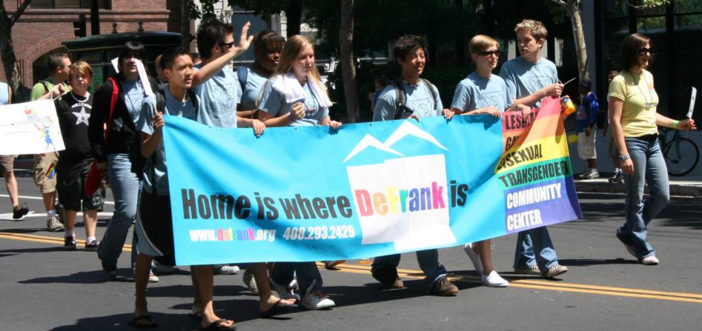 billy defrank pride parade banner