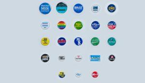 button campaign collage header