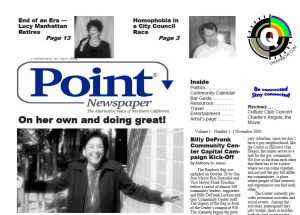 point newspaper cover