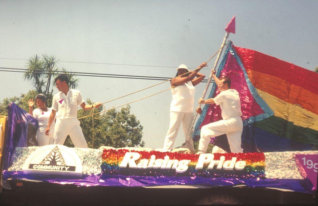 pride flag raising 1992 parade scaled