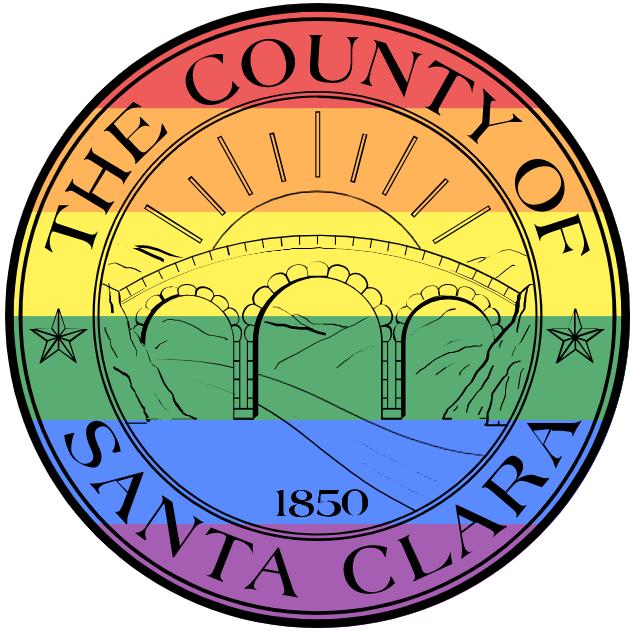 santa clara county rainbow logo