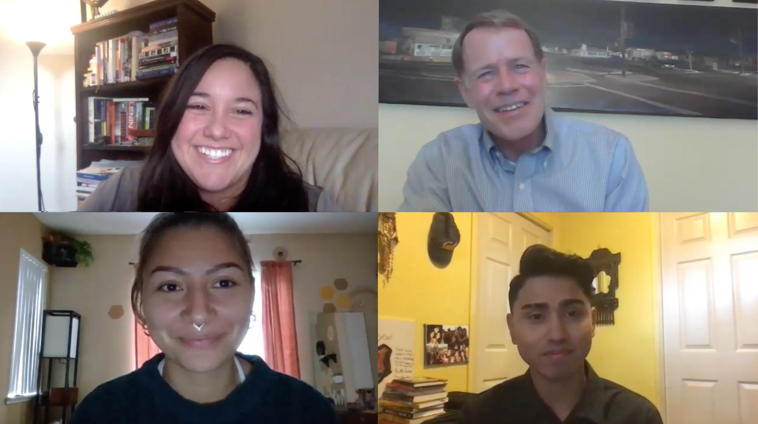 Oak Grove School Board members in conversation with Ken Yeager